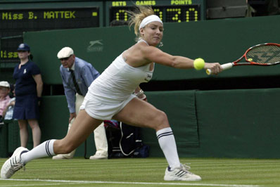 Betthanie Mattek's outfit at Wimbledon, 2006