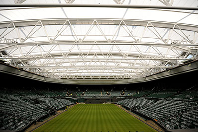 The new roof over Wimbledon's Centre Court